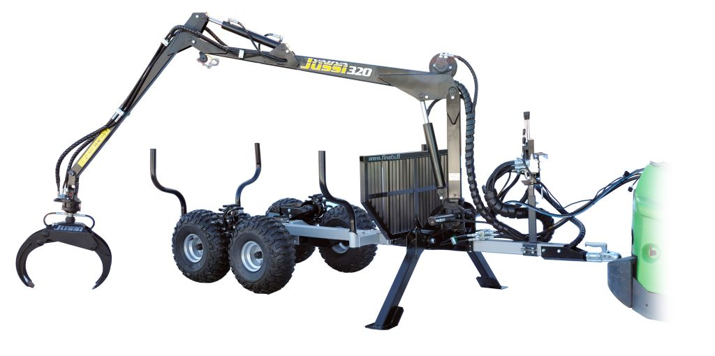 Timber Trailer with Loader Crane